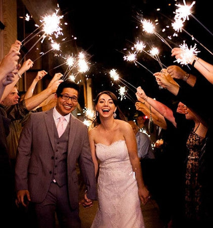 Wedding Sparklers For People Who Are Getting Married.