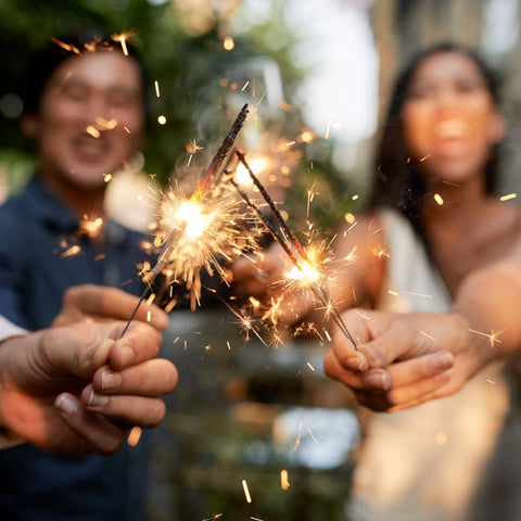 When to do sparklers at wedding Image