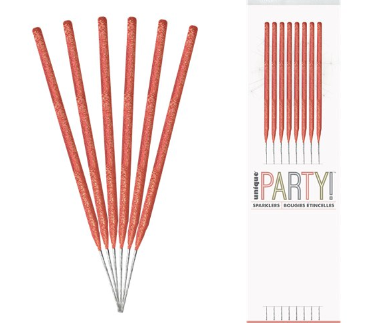 "Bulk Buy 7"" Inch Rose Gold Coated Gold Effect Indoor & Outdoor Sparklers (PACK OF 150)"