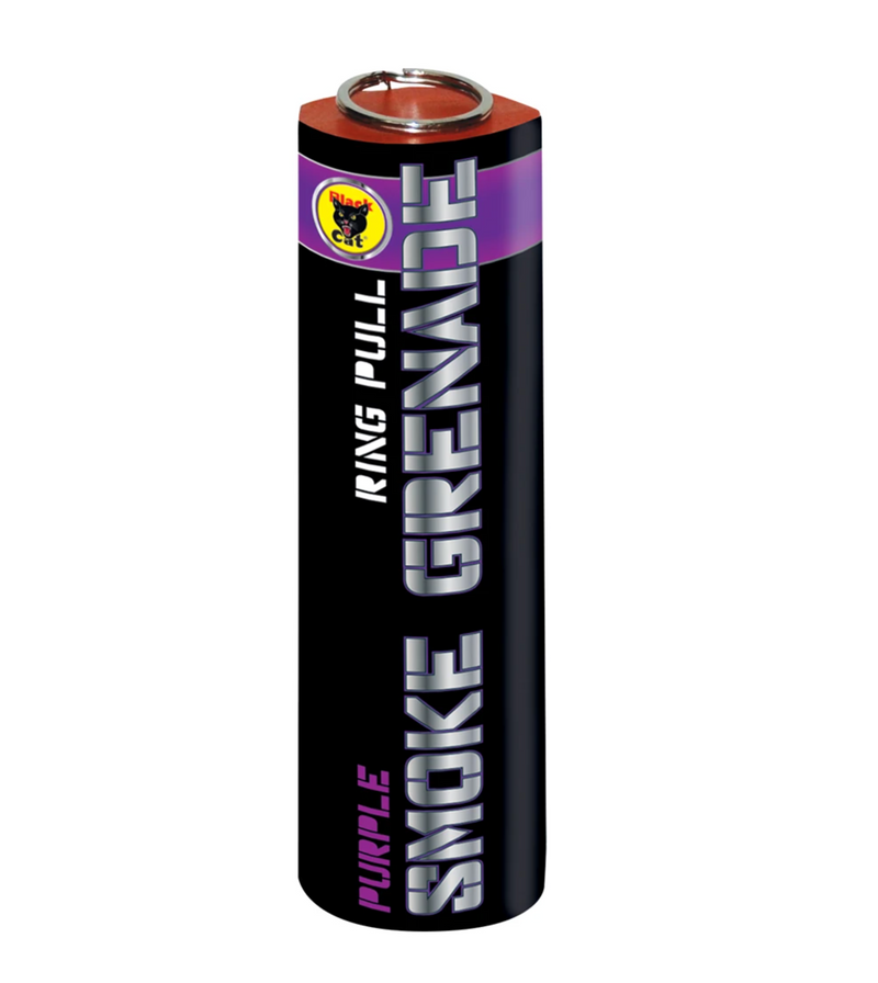Black Cat - Purple Outdoor Daytime Smoke with Ring Pull Ignition Grenade