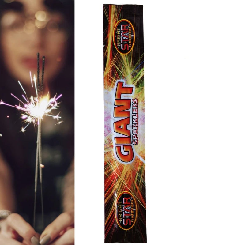 "Pack Of 5 Bright Star – 10"" Inch Regular Sparklers"