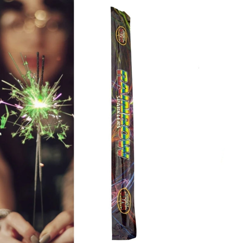 "Pack Of 4 Bright Star – 18"" Inch Rainbow Coloured Mammoth Big Sparklers"