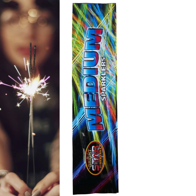 "Pack Of 5 Bright Star – 7"" Inch Small Sparklers"