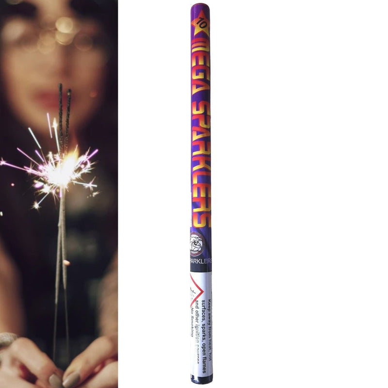 "Pack Of 10 British Bulldog – 16"" Inch Mega Long Sparklers In A Tube"