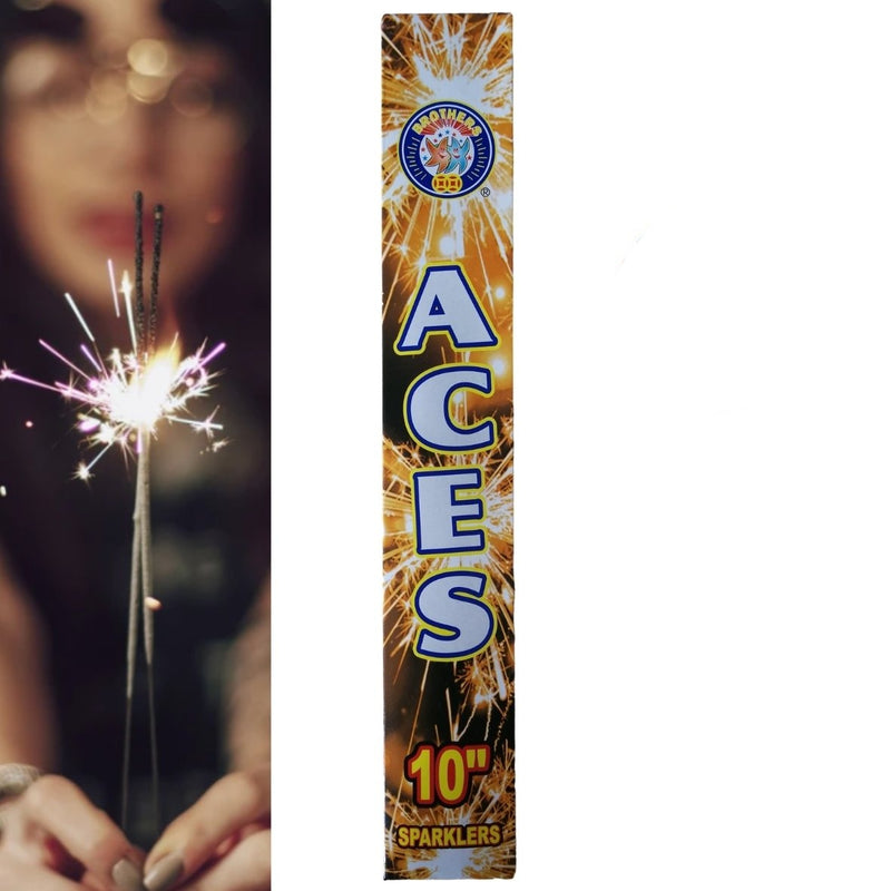 "Pack Of 5 Brothers – 10"" Inch Aces Regular Sparklers"