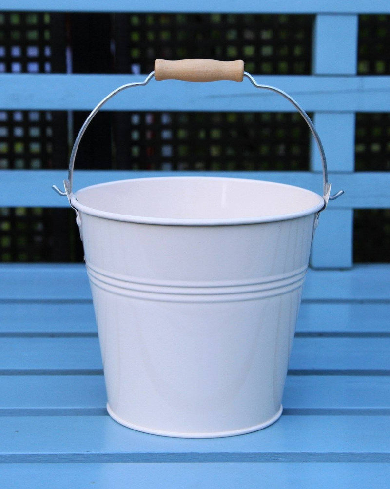 Bucket - Set Of 1 - Wedding Sparkler Bucket 16 Cm (Cream)