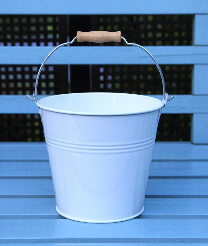 Bucket - Set Of 1 - Wedding Sparkler Bucket 16 Cm (White)