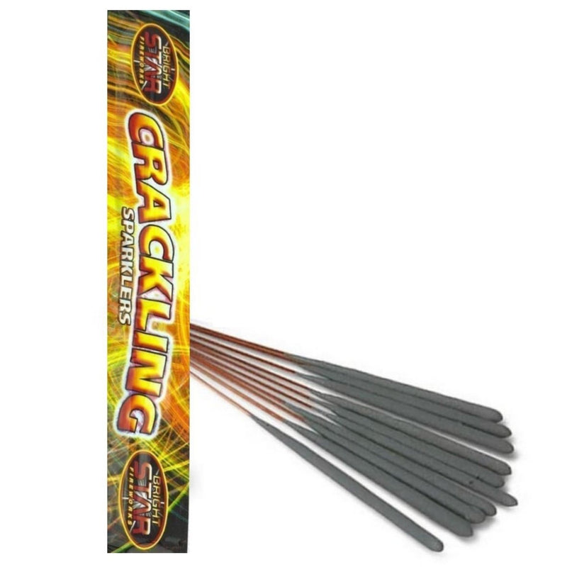 "Bulk Buy 10"" Inch Crackling Regular Sparklers (PACK OF 50)"