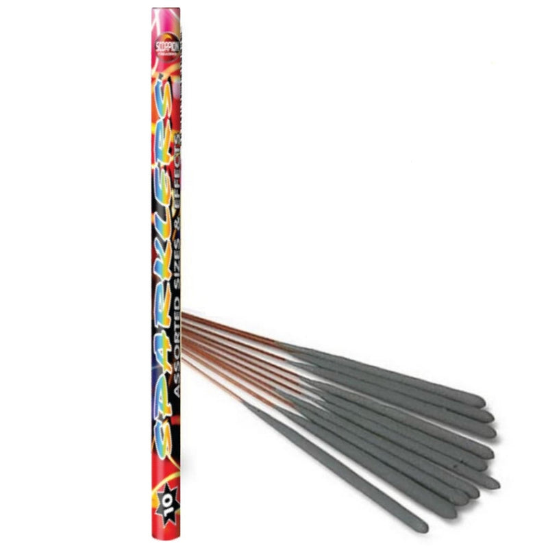 Bulk Buy Assorted Sparklers (PACK OF 50) In Tubes