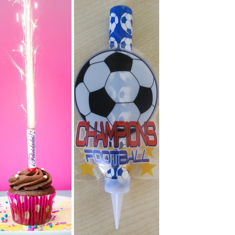 "Football Ice Fountain Sparklers 6"" Inch Indoor Use (PACK OF 1)"
