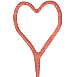 "Heart Shaped - 7"" Inch Rose Gold Coated Sparklers (PACK OF 1)"
