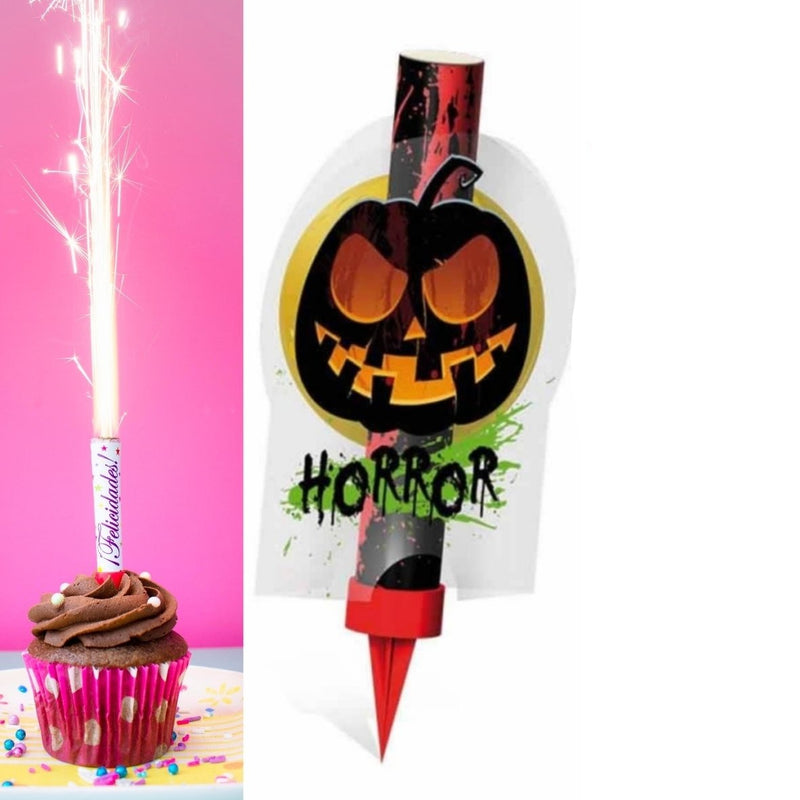 "Horror Ice Fountain Sparklers 6"" Inch Indoor Use (PACK OF 1)"