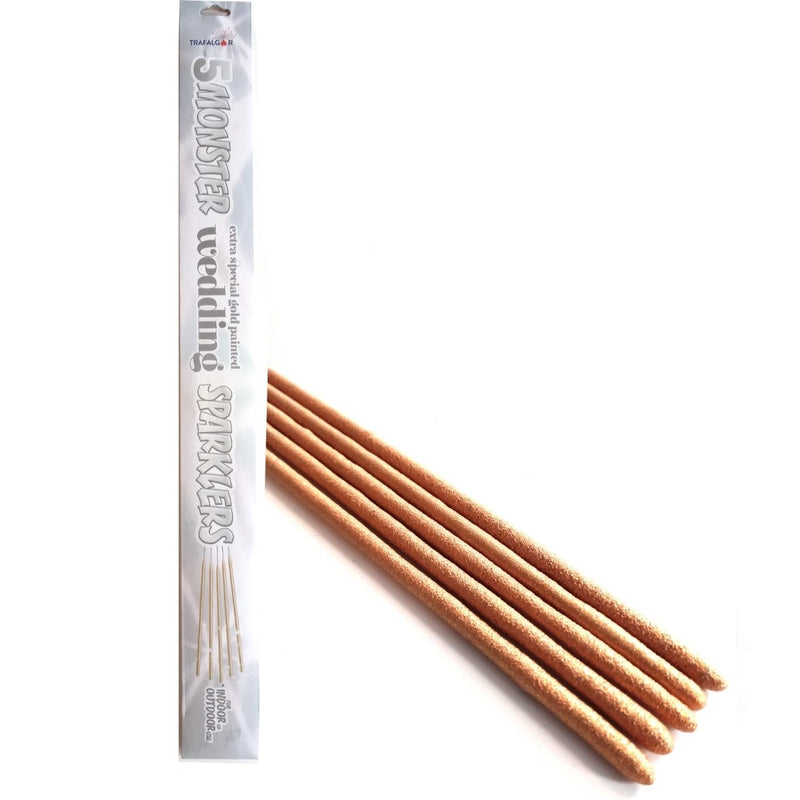 "Bulk Buy 18"" Inch Extra Long Sparklers Gold Coated (PACK OF 50)"