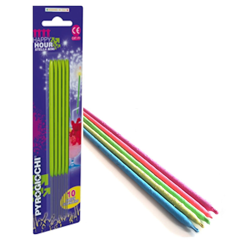 "7"" Indoor Colour Coated Sparklers (PACK OF 10)"