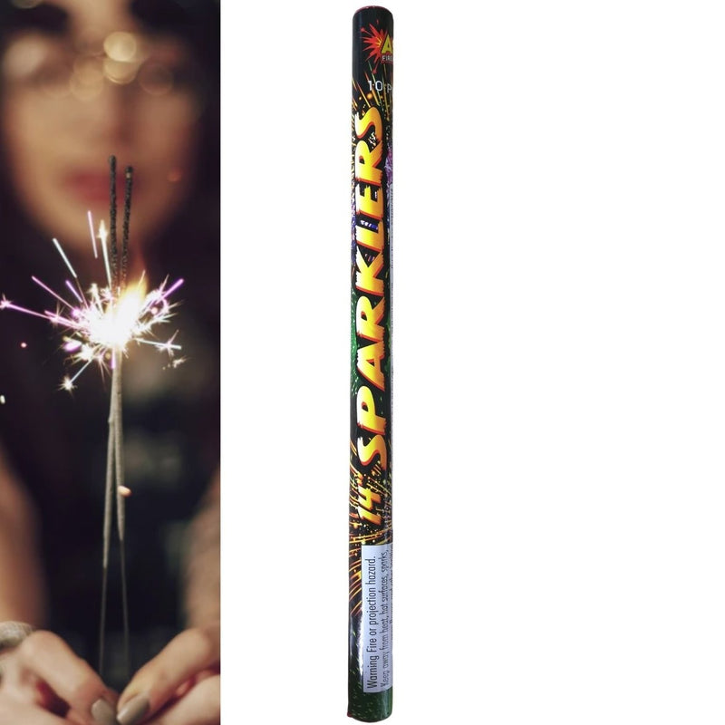 "Pack Of 10 Astra – 14"" Inch Medium Sparklers In A Tube"