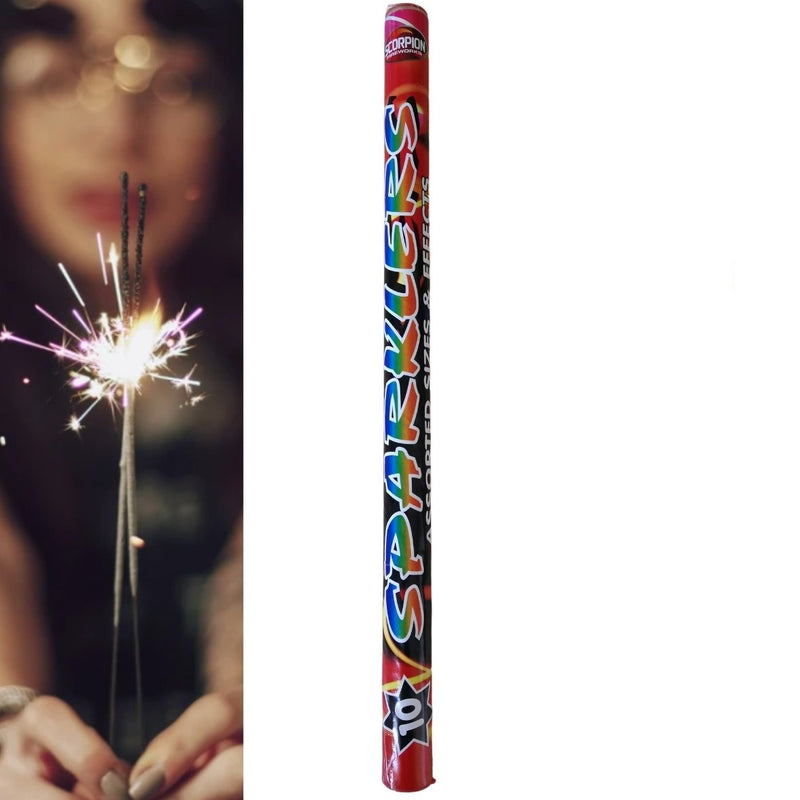 Pack Of 10 Scorpion - Assorted Sparklers In A Tube