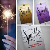 Sparkler Tags - Custom Made Tags With FREE Large Sparklers
