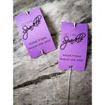 Sparkler Tags - Handmade Unique Sparkler Tags Complete With Sparklers