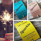 Sparkler Tags - Packs Of Personalised Printable Wedding Favour Sparkler Tags With Big Sparklers