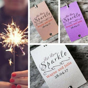 Sparkler Tags - Pearlised Wedding Send-Off Tags With Amazing Sparklers