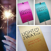 Sparkler Tags - Personalised Wedding Sparkler Tags With FREE Sparklers