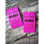 Sparkler Tags - Rustic Kraft Paper Sparkler Tags With Free Giant Sparklers