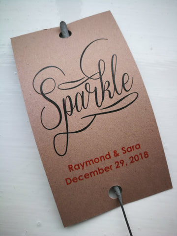 Sparkler Tags - Sparkler Send-off Tags With FREE Amazing Sparklers
