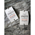 Sparkler Tags - Vintage Wedding Shabby Chic Custom-Made Sparkler Tags With Free Sparklers