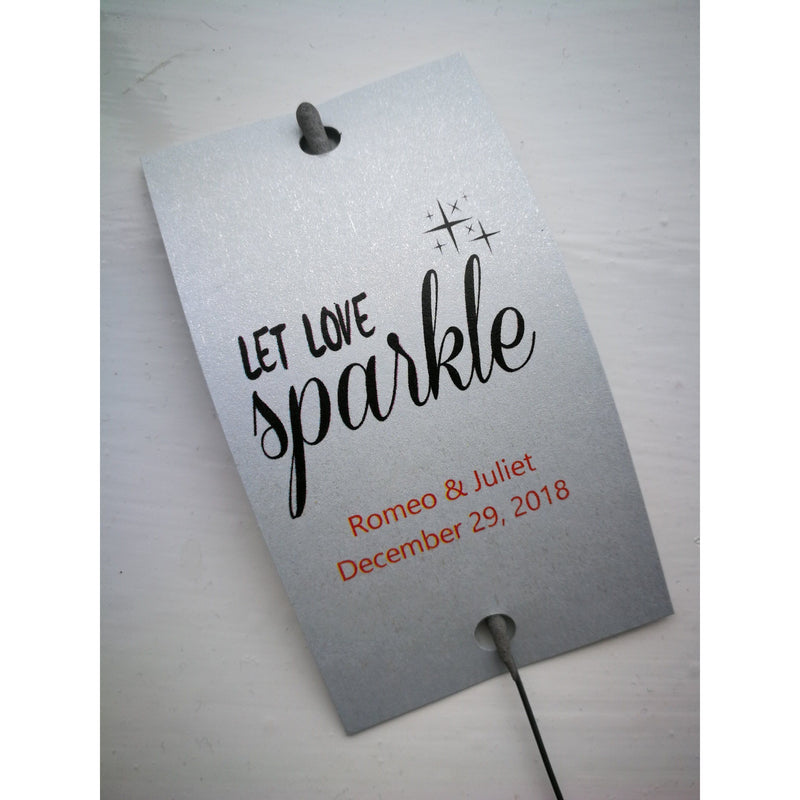 Sparkler Tags - Wedding Sparkler Send Off Tags With FREE Beautiful Sparklers