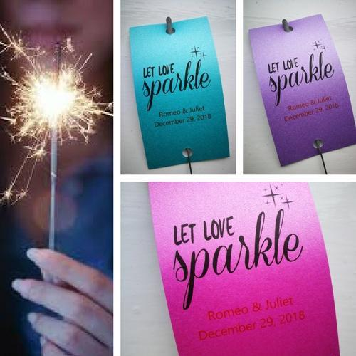 Wedding Sparkler Send Off Tags With Free Beautiful Sparklers Www