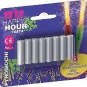 Sparklers - Cocktail Swizzle Mini Ice Fountain Sparklers Sticks Indoor Use (REFILL PACK OF 8)