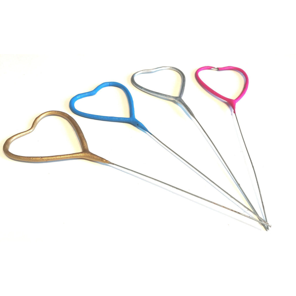 "Sparklers - Heart Shaped - 7"" Inch Coated Sparklers (PACK OF 1)"
