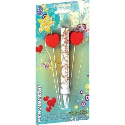 "Sparklers - Ice Fountain Sparklers 6"" Inch With 2 Heart Candles Indoor Use (PACK OF 3)"