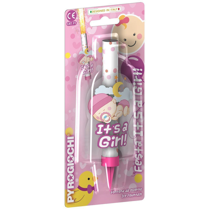 "Sparklers - It`s A Girl Ice Fountain Sparklers 6"" Inch Indoor Use (PACK OF 1)"