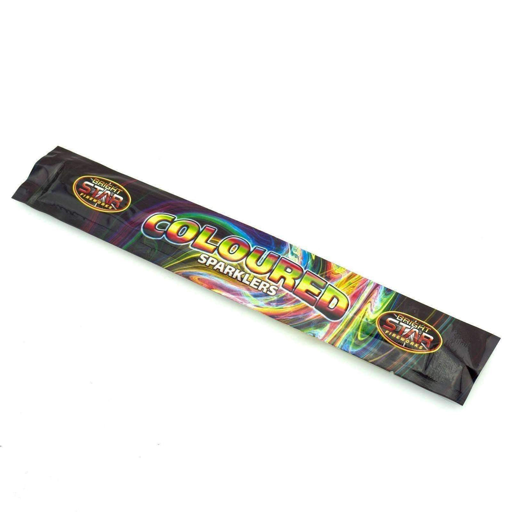 "Sparklers - Pack Of 5 Bright Star – 10"" Inch Coloured Regular Sparklers"