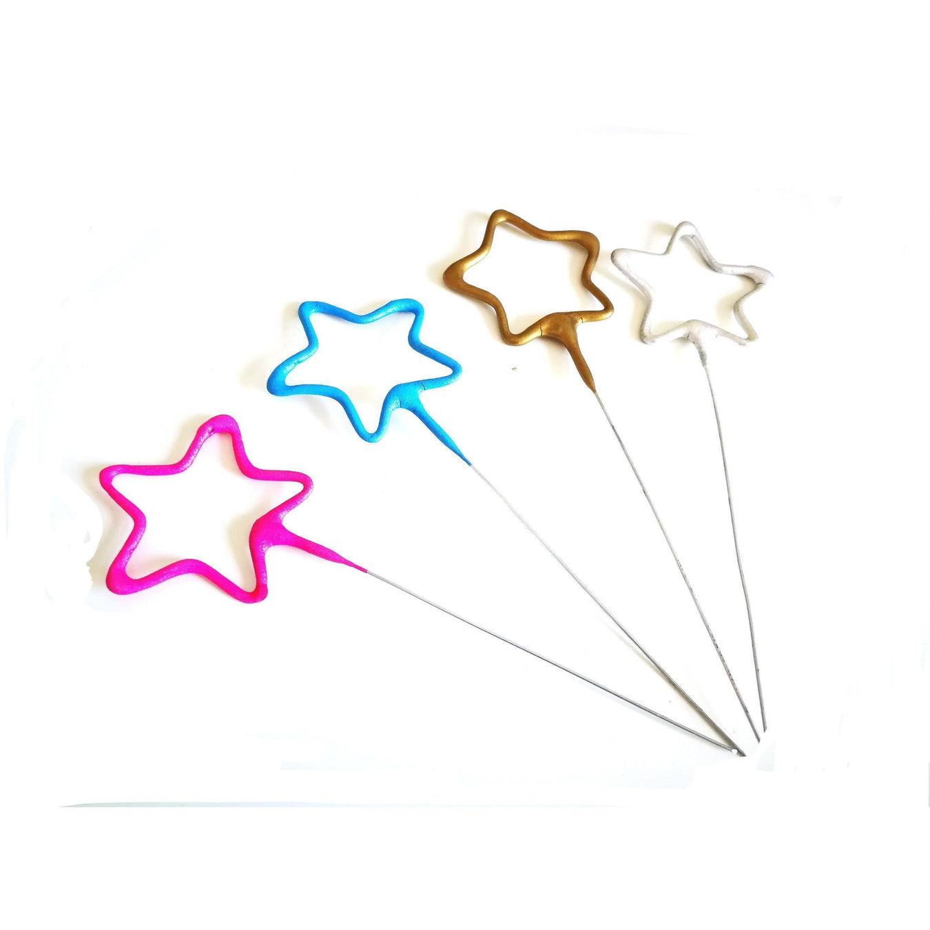 "Sparklers - Star Shaped - 7"" Inch Coated Sparklers (PACK OF 1)"