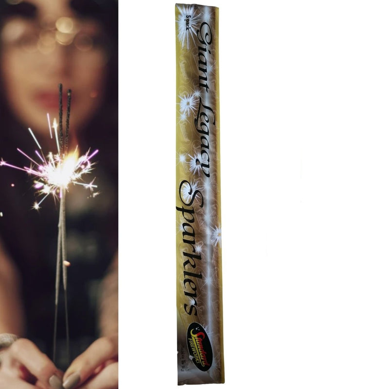 "Pack Of 5 Standard – 16"" Inch Giant Long Legacy Sparklers"