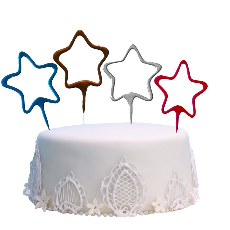 "Star Shaped - 7"" Inch Coated Sparklers (PACK OF 1)"