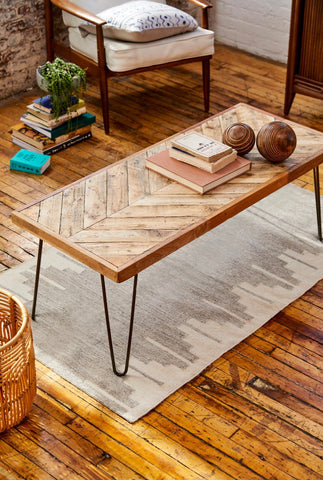 Chevron coffee table by isaac stradling at kontrast -  reclaimed pallet wood
