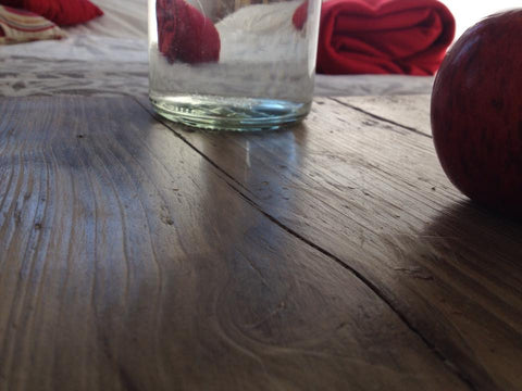 Farmhouse pallets waxed bedside table top