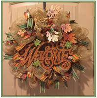 Welcome Fall Wreath 24
