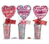 VALENTINE GIFT TUMBLER WITH CANDY AND BALLOON