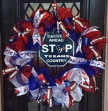 Houston Texans Football Wreath - Pick Up Only