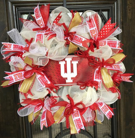 University Of Indiana Hoosiers Wreath
