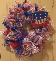 Top Hat Patriotic Wreath