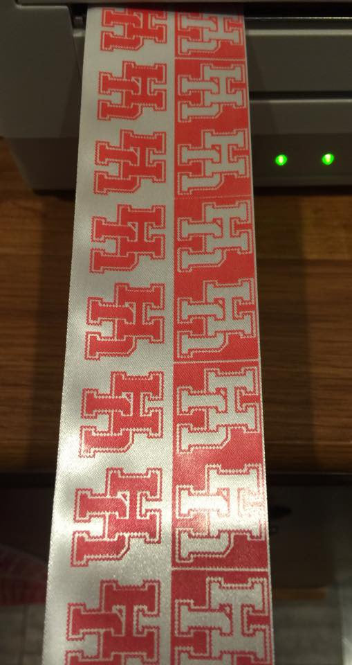 "Printed 2.50"" Satin Wired Ribbon"