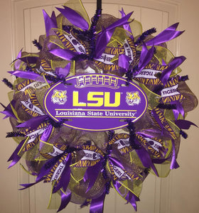 LSU Louisiana State University Wreath
