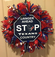 Houston Texans Football Wreath