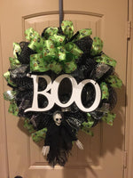 Skeleton Boo Wreath