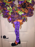 Witchey Hat & Legs Wreath